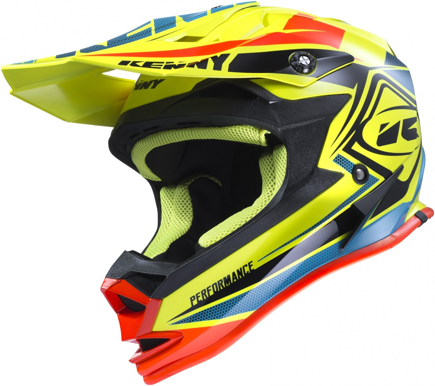 KENNY prilba PERFORMANCE 17 neon yellow/blue/orange