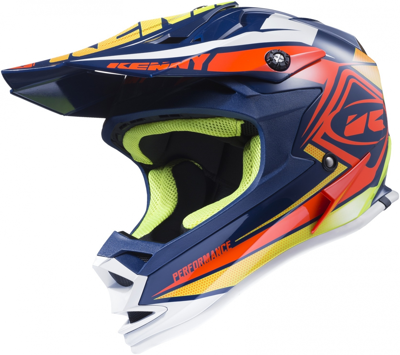 KENNY prilba PERFORMANCE 17 navy/orange/lime