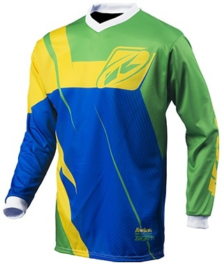 KENNY dres TRACK 15 Classic detský green/blue/yellow
