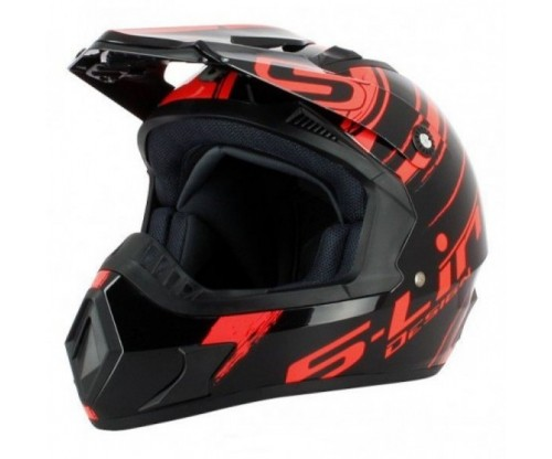 Prilba S-LINE neon-red/black
