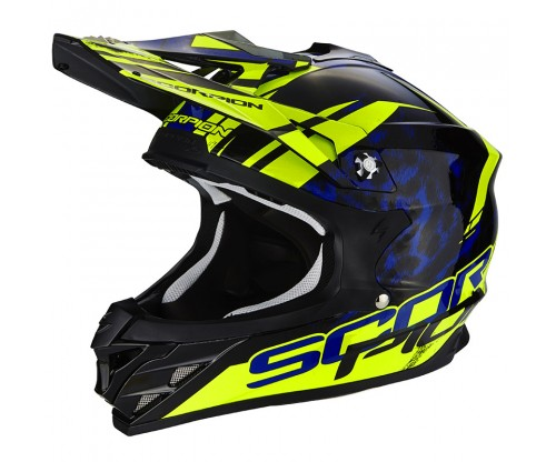 Scorpion VX-15 KITSUNE black-blue-neon yellow