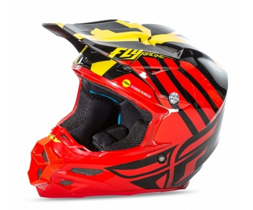 Prilba FLY F2 Zoom red/black/yellow