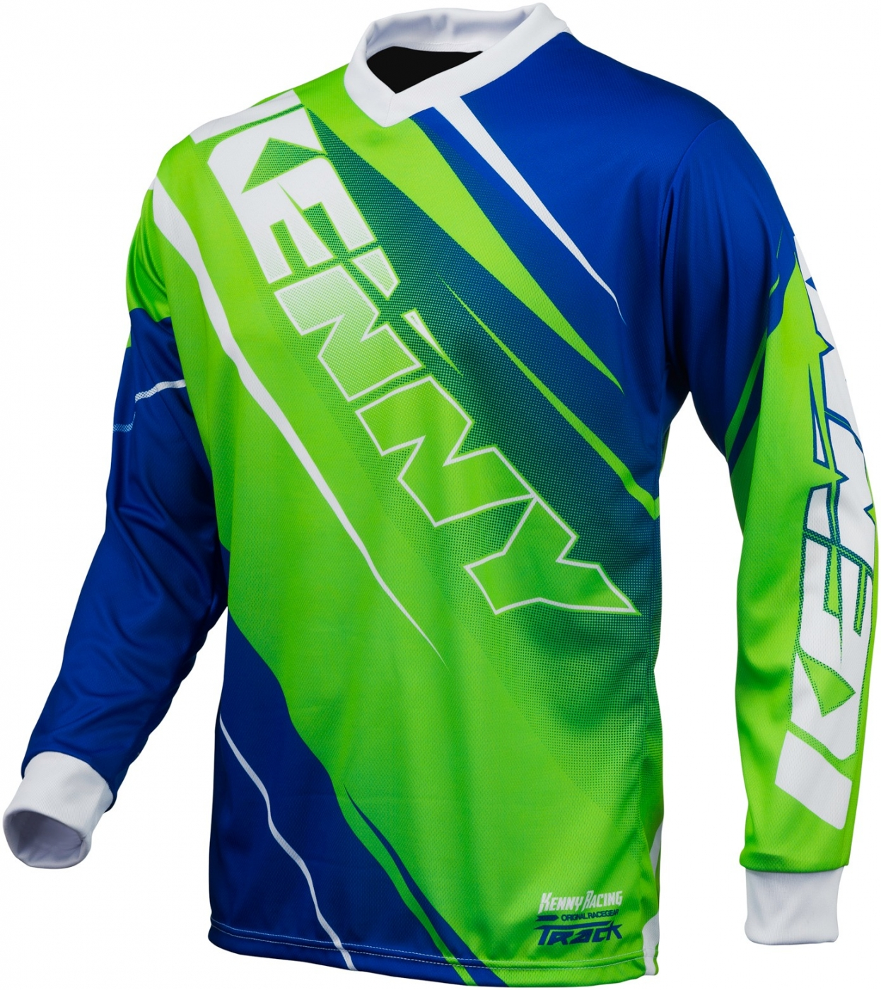 KENNY dres TRACK 16 neon green / blue