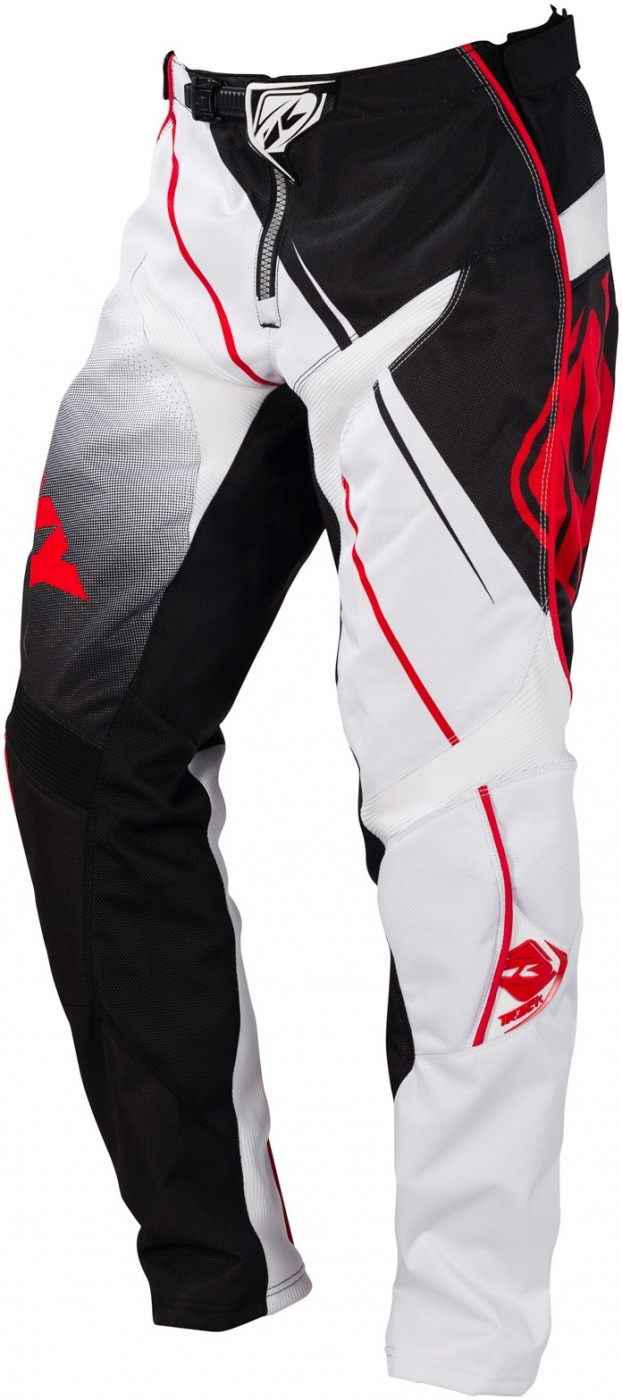 KENNY nohavice TRACK 16 black / white / red
