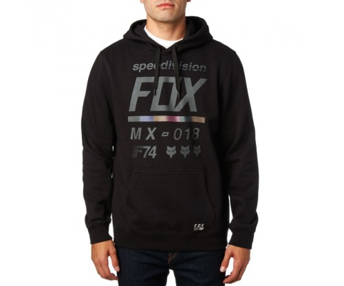 Pánska mikina Fox District 2 Pullover Fleece black Heather Graphic 2018