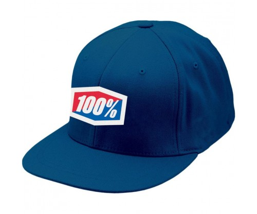 Šiltovka 100% navy FITTED